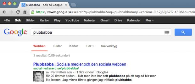 Google AdWords annonser som indexerar