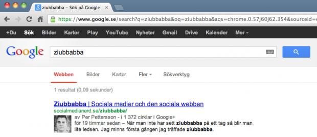 Google AdWords indexerar sidor till sökresultatet