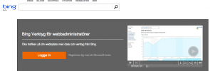Logga in på Bing Webmaster Tools