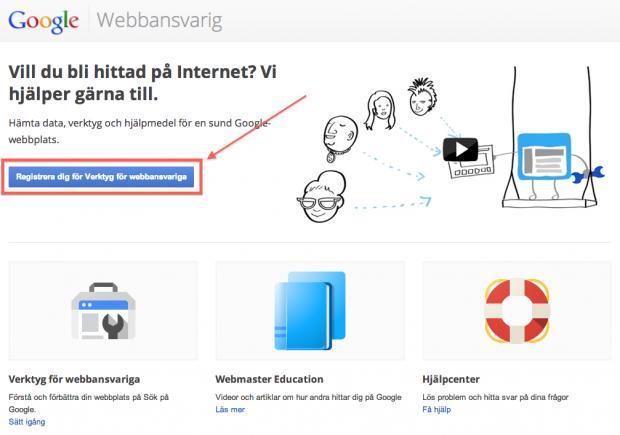 Kom igång med Google Webmaster Tools