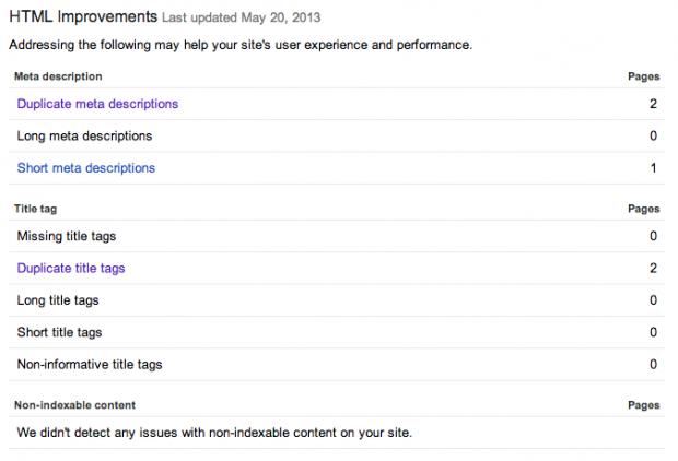 HTML-förbättringsförslag med WMT