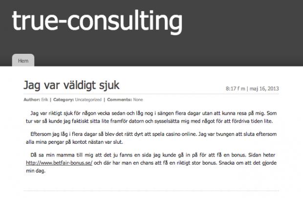 True-consulting.se har fått nytt liv