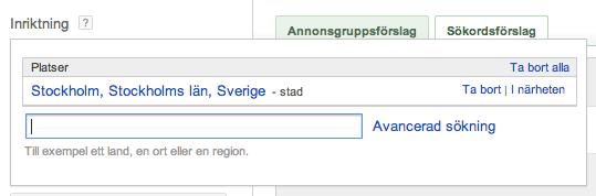 Sökdata över Stockholm