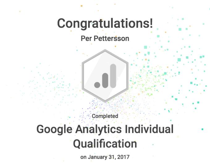 Google Analytics kurs med certifikat