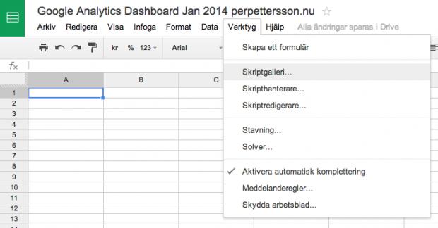 Skapa egna Google Analytics-rapporter med Google Drive