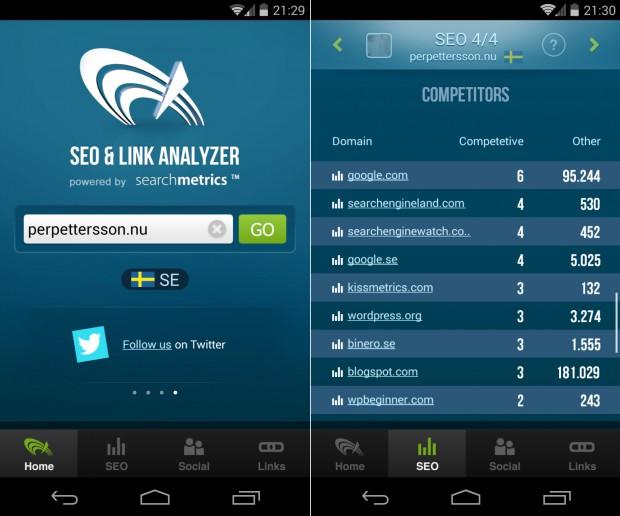 SearchMetrics SEO-app finns nu gratis för Android och iOS