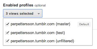Hämta sökorden till alla Views i Google Analytics