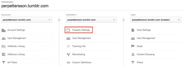 Koppla ihop Google Analytics med Webmaster Tools för att visa sökord