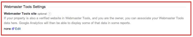 Webmaster Tools är inte länkat med Google Analytics