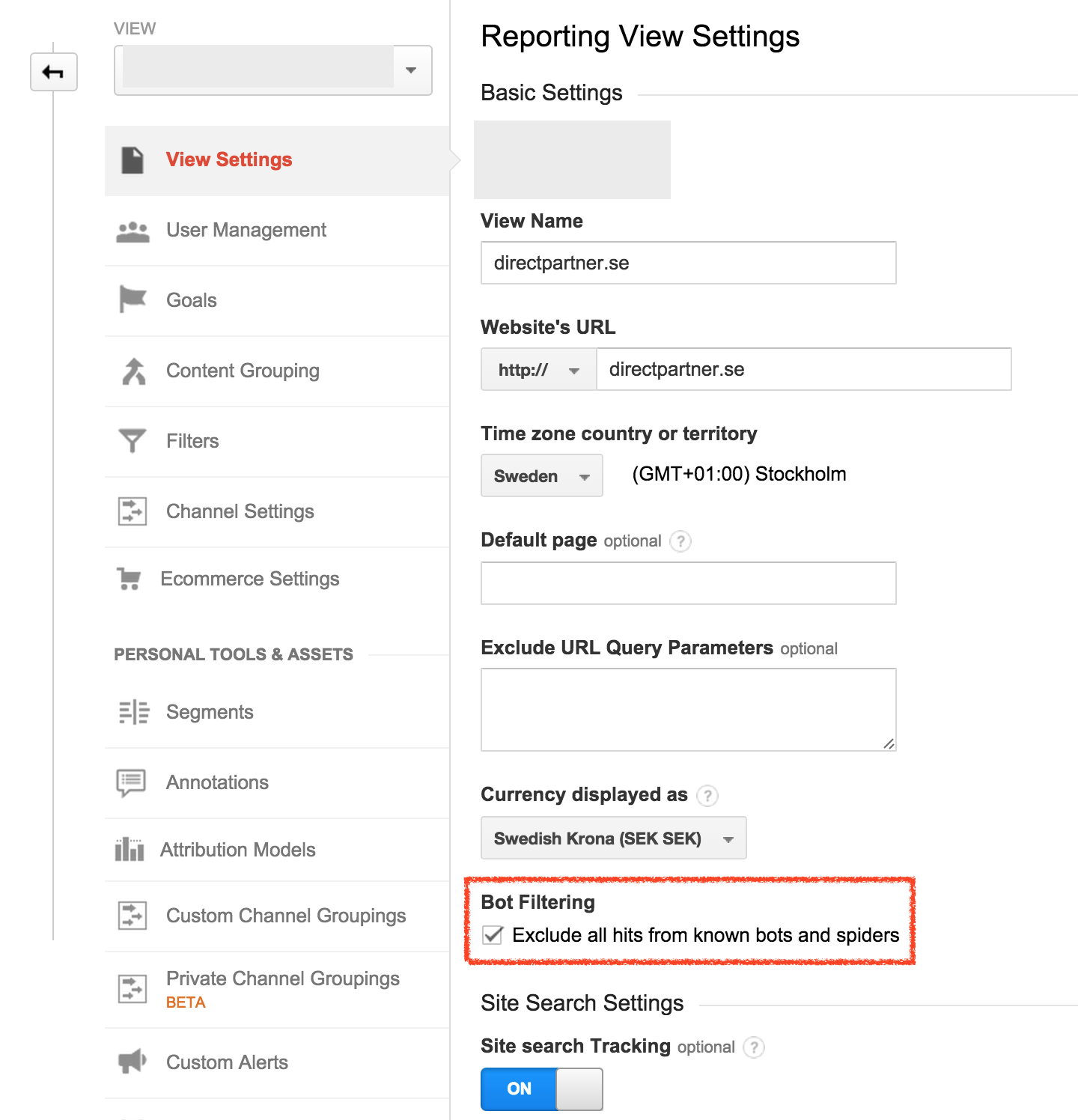 Botfiltrering i Google Analytics