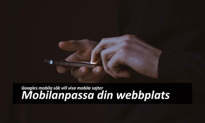 Mobilanpassad webbplats