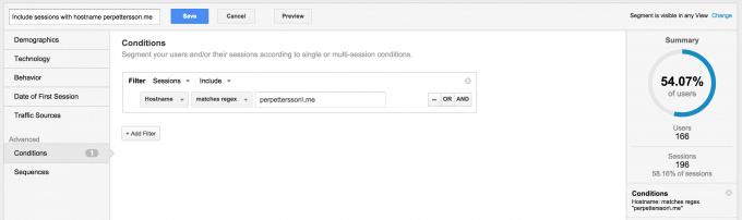 Segment i Google Analytics för att filtrera bort SPAM