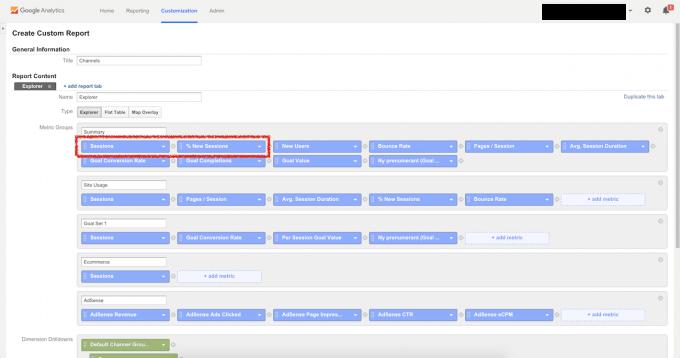 Skräddarsy din Google Analytics rapport