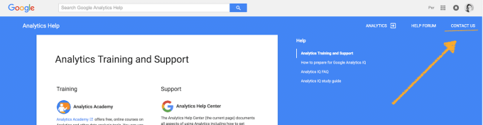 Support-kontakt med Google