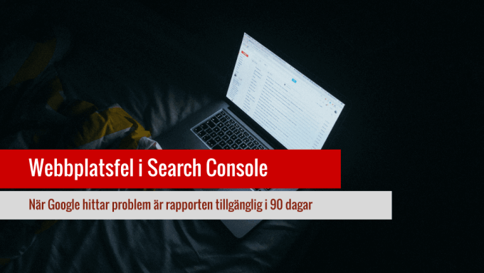 Webbplatsfel i Google Search Console.