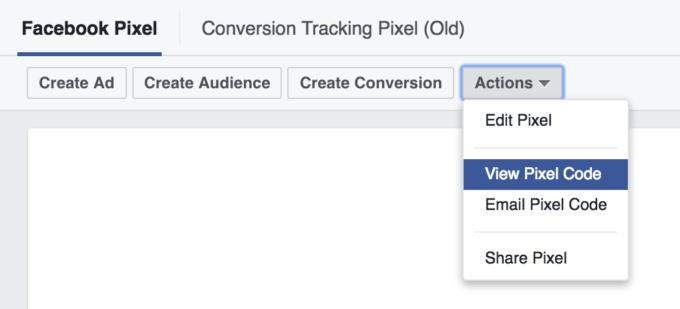 Visa Facebook Pixel-koden