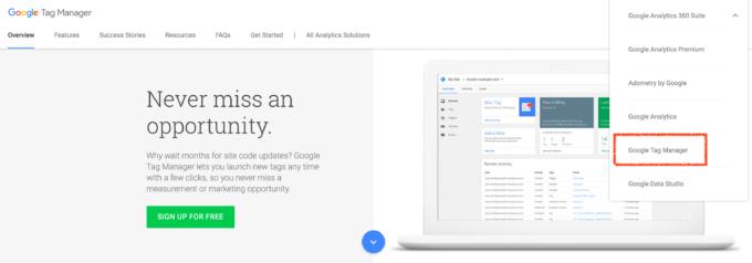 Skapa Google Tag Manager-konto