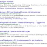 Urvalet av försäkringsbolag i google.se