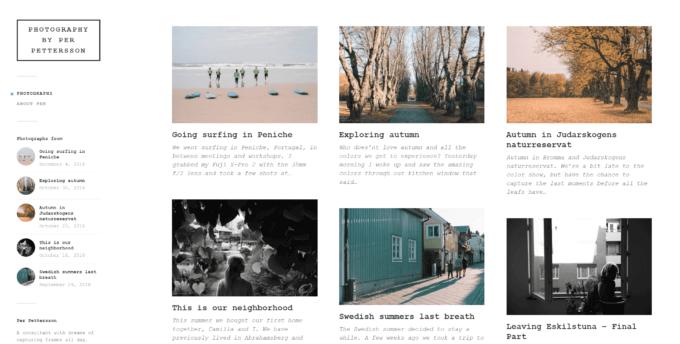 Ta-daa! Fotobloggen har ny bakgrund och nytt typsnitt.