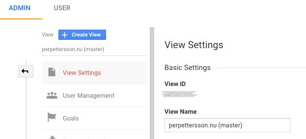Google Analytics View ID