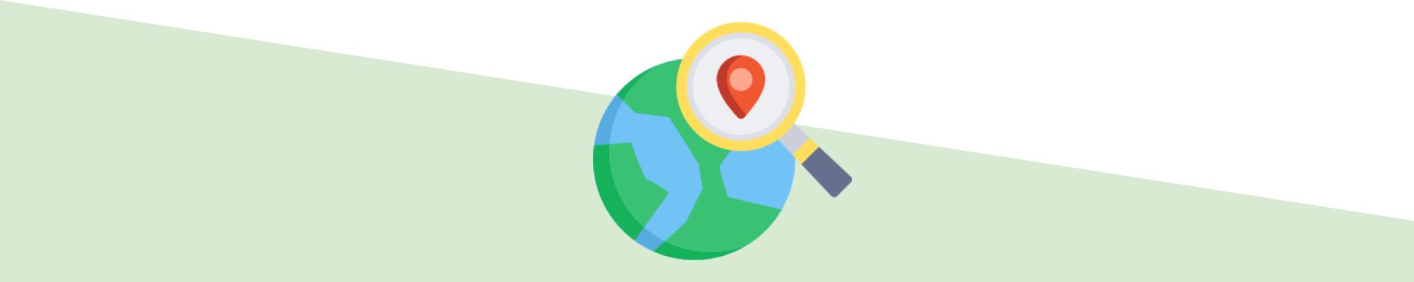 Lokala sökresultat utan VPN-tjänst.